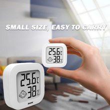 Novo mini interior termômetro digital lcd temperatura ambiente higrômetro medidor sensor de umidade termômetro