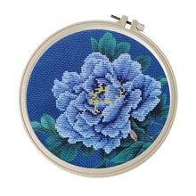 Diy Набор для вышивки крестиком пион рукоделие начинающих Цветочная