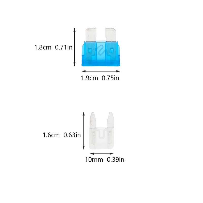 Image 5 - 220Pcs /set Assorted Car Fuses Auto Truck SUV Fuses Mini Standard Blade Fuse Kits with Clip 2 35A Auto Replacement Parts-in Fuses from Automobiles & Motorcycles