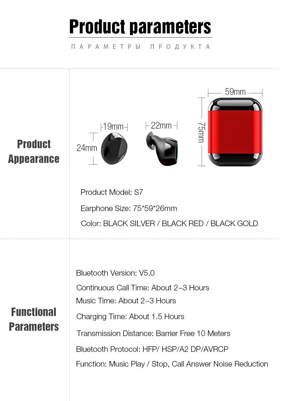 TWS Earbuds Wireless Headphones Bluetooth Earphone Stereo Headset Earphone For Phone With Charging Box Wireless Bluetooth Headphones (3)
