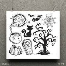 AZSG Death and magic Clear Stamps/seal for DIY Scrapbooking/Card Making/Photo Album Decoration Supplies
