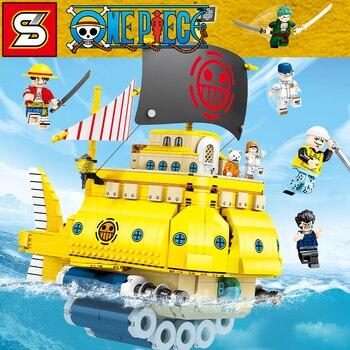 1214pcs Building Blocks Bricks SY6295 One Piece Series Polar Diving Model Building Toys Children Christmas Gifts