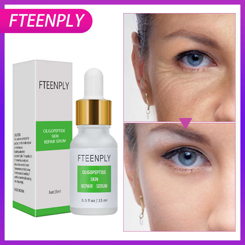 FTEENPLY เซรั่ม Oligopeptide Skin Repair Serum Hyaluronic Acid Anti-wrinkle สต็อก Solution Moisturizing Soothing Skin Care