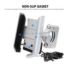 אוניברסלי אופנוע אופני כידון נייד טלפון Stand מחזיק הר Bracket עם USB מטען עבור 4 6.5 אינץ נייד Whosale