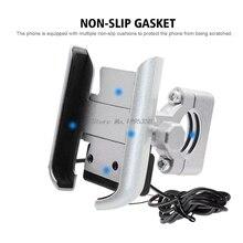 Uniwersalny motocykl motor kierownica mobilny stojak na telefon uchwyt mocujący z ładowarką USB do telefonu komórkowego 4 6.5 cala Whosale