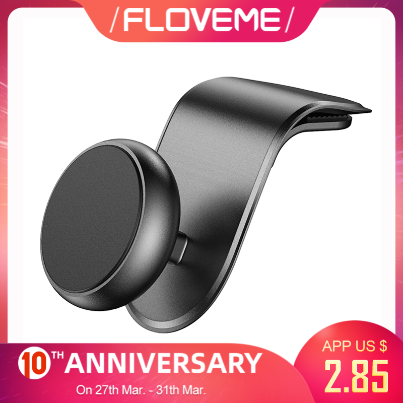 FLOVEME Universal Magnetic Car Phone Holder For IPhone Xiaomi 360 Rotation Mobile Phone Car Holder Stand Mount Support Accessory