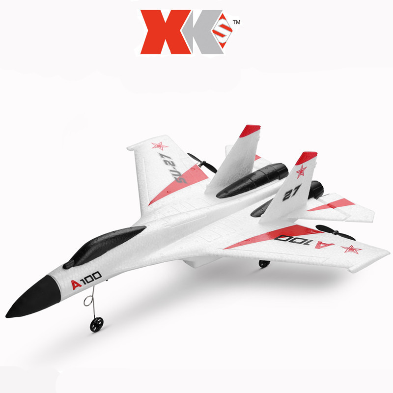 Weili XK A100 Su-27 Fighters 11 Three-Channel Fixed-Wing Remote Control Glider Like Really Airplane Model Toy