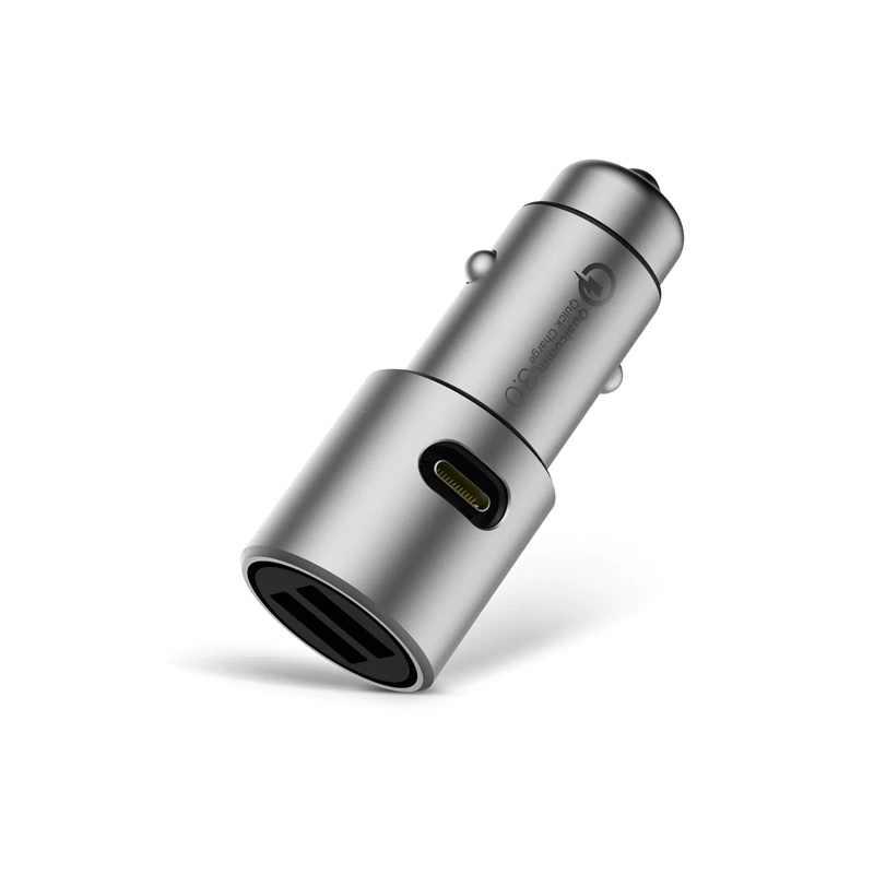 Tiểu Mi Ban Đầu Sạc Xe Hơi Mi Sạc Nhanh 3.0 Dual USB Max 36W 5 V/3A 9V 2A Kim Loại Cho iPhone Huawei Phù Hợp Với Hầu Hết Xe Ô Tô