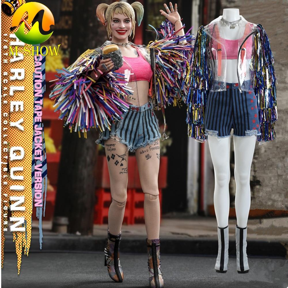Harley Quinn Birds Of Prey Cosplay Costume Colorful Tassel Coat Jacket Halloween Christmas Costumes Props For Adult Women Custom Movie Tv Costumes Aliexpress