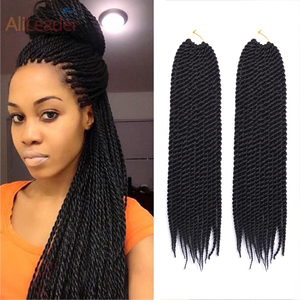 AliLeader Products Senegalese Twist Hair Crochet Braids Extensions 22 Inch 13 Colors Ombre Purple Synthetic Hair For Braiding