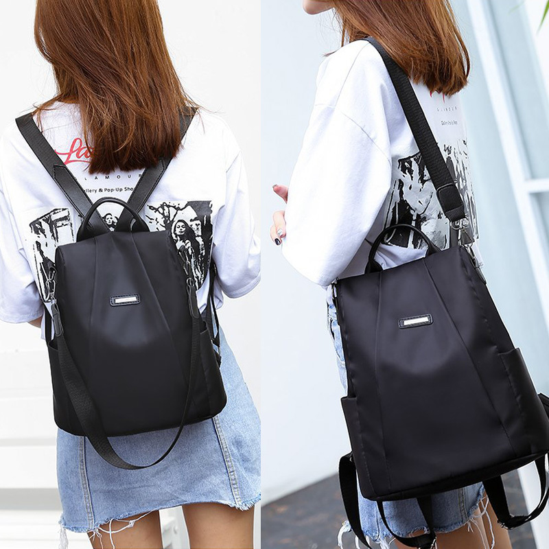 H3abcd669e96e4b4b932da3f37cb5cee0c - Women Fashion Backpack Oxford Multifunction Bags Female Anti-theft Casual Backpacks Girl's Elegant Mochila For School Work