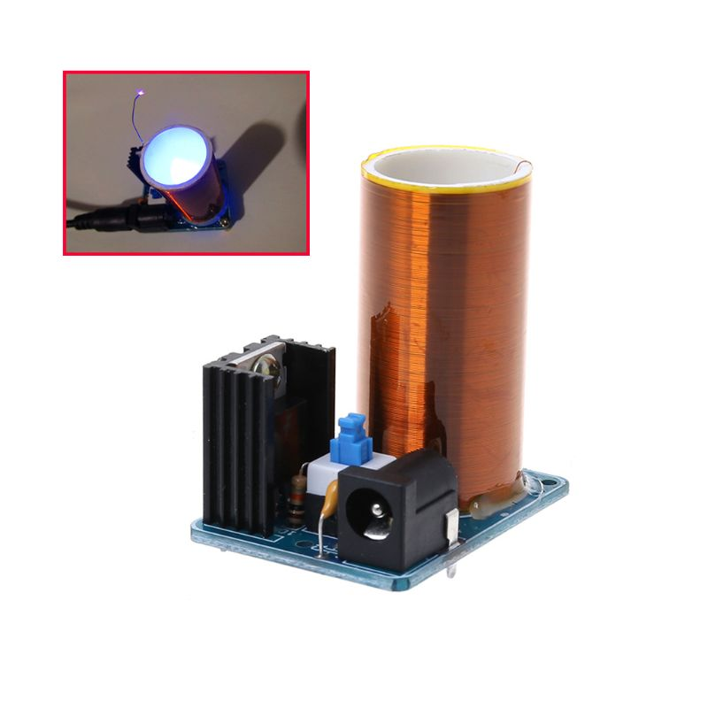 9-12V BD243 Mini Tesla Coil Kit Electronics DIY Parts Wireless Transmission DIY Board Set 10166