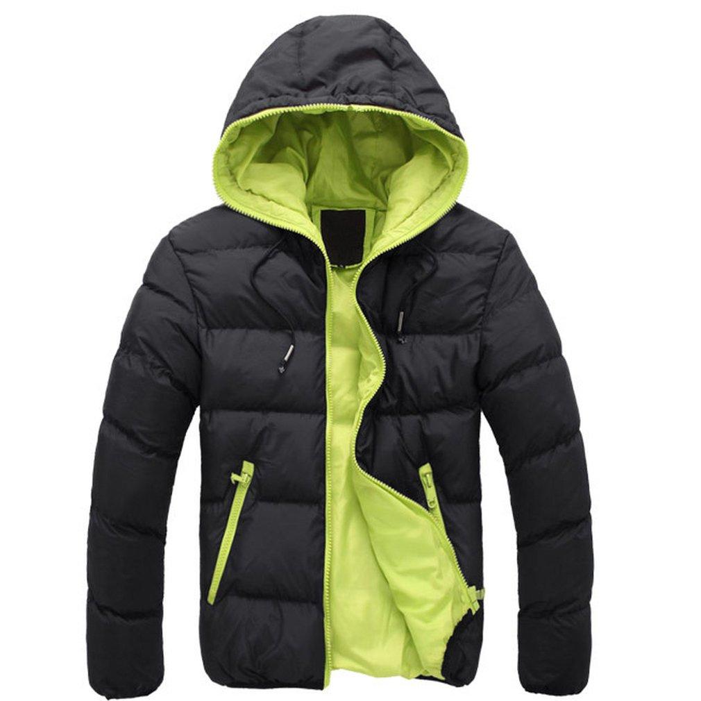 Jacket Dual Color Long Sleeve Men Jacket Cotton Casual Winter Men Coats Comfortable Male Outwear Universal Clearance