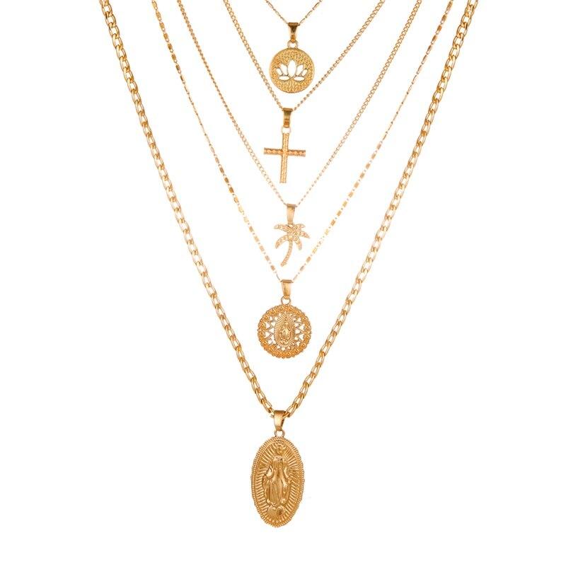 VKME модное жемчужное ожерелье с двойным слоем Love аксессуары Женское Ожерелье Bijoux подарки - Окраска металла: ZL0000834