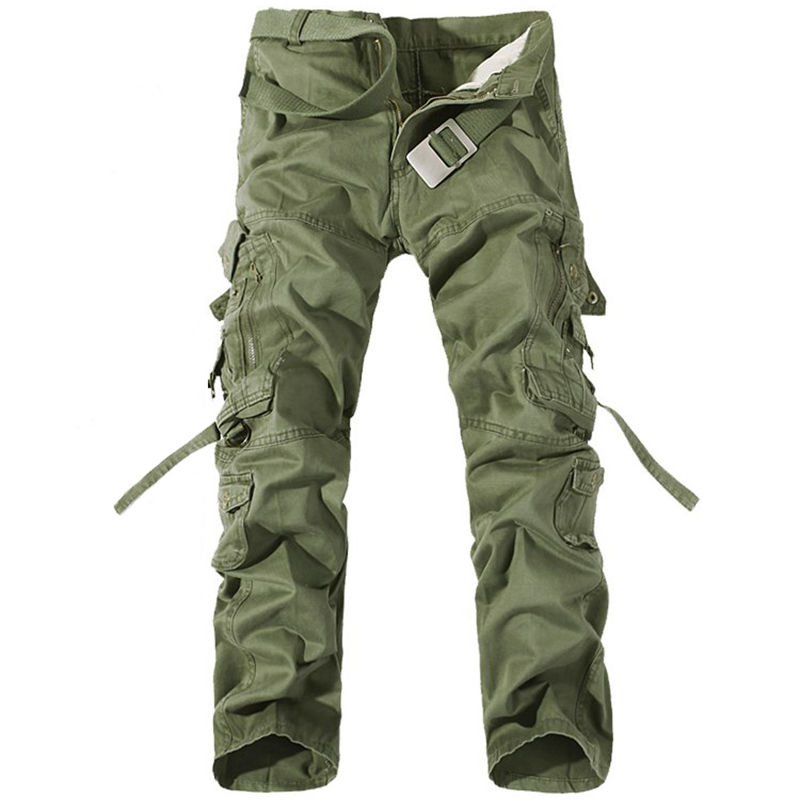 2019 Fashion Multi-pocket Solid Men's Military Pants Men's Trousers Overalls Casual Baggy Army Cargo Pants Male Plus Size 42