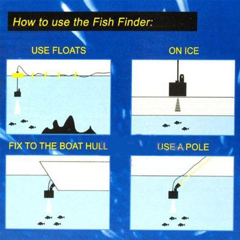 12m portatil fish finder profundidade alarme sensor
