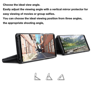 Image 2 - SAMSUNG Phone Case Original Vertical Mirror Protection Shell For Samsung Galaxy Note 9 Note9 N9600 N960f Phone Protective Cover