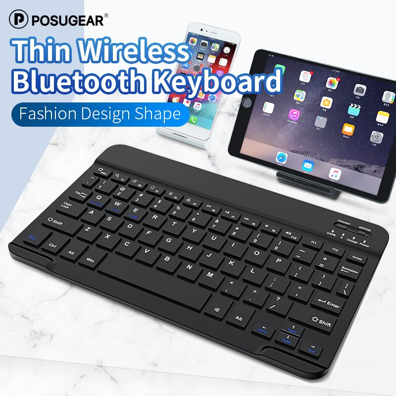 Posugear Thin 2.4GHz USB Wireless Mini Keyboard With Number Touchpad Numeric Keypad For Android Phone Windows Tablet,Desktop