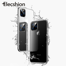 Transparent Case For iPhone 11 Pro Max Bumper Clear Covers TPU Coque Shell Funda Shockproof