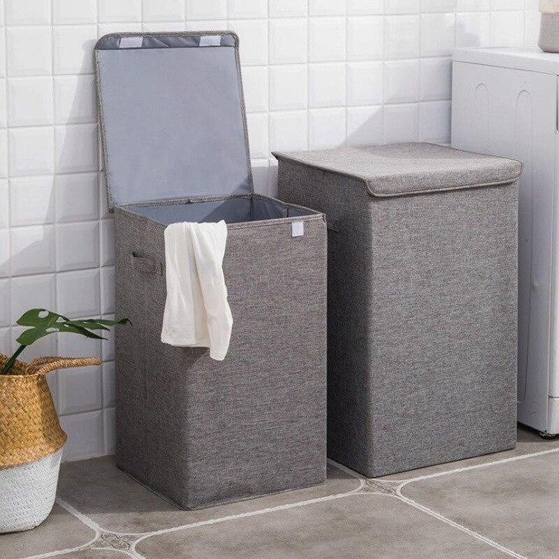 Micro Laundry Storage Barrels-Washing With Cap Multi-functional Organizing Storage Box Laundry Basket