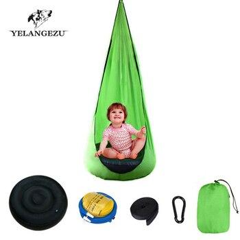 Portable Creative Kid Hammock Garden Furniture Pod Swings Chair Indoor Outdoor Hanging Seat Child Cocoon Swing Seat Patio