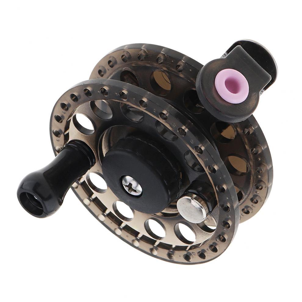 Plastique noir ultraléger 11 1BB moulinet de pêche à la mouche diamètre 60mm ancienne roue de pêche sur glace main gauche droite Interchangeable