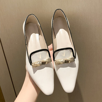 2021 Fashion Women's Shoes New Pointed Toe Flats Quality rench Retro Small Slip On Spring Summer Lady Elegant Single Shoes 1