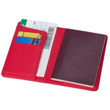 Solid Color Portable Travel Faux Leather Passport Ticket Holder Card Storage Bag