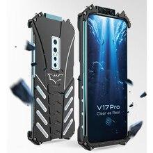 Caixa de metal de alumínio para vivo v17 pro x27 s1 iqoo pro z1 z3 nex 3x21 i x21s y66 y67 y79 y85 armadura resistente proteger caso capa