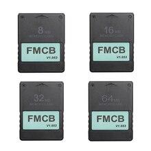 FMCB ücretsiz McBoot kartı Sony PS2 için Playstation2 8MB/16MB/32MB/64MB hafıza kartı v1.953 OPL MC çizme