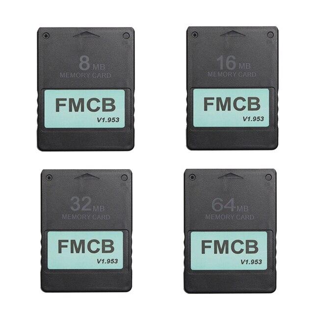 Tarjeta McBoot gratuita FMCB para Sony PS2 para Playstation2 Tarjeta de memoria 8MB/16MB/32MB/64MB v1.953 OPL MC Boot