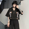 Блузка Neploe в стиле Харадзюку, черная блузка в стиле панк/готика, топы 2021, женские корейские рубашки с вышивкой и драконом на пуговицах, винта...