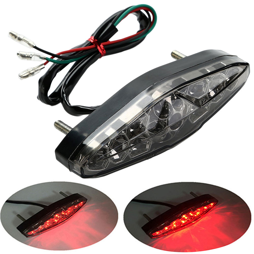 Motorcycle Rear Tail Stop Red Light Lamp Dirt Taillight Rear Lamp Braking Light Auto Accessories Motorcycle Decorative Lamp Hot