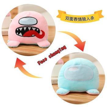 Hot Pulpo Reversible Among Us Game Stuffed Toy Kids Christmas Gift Kawaii Animal Doll Cute Amongus Plush Toy birthday gift 2