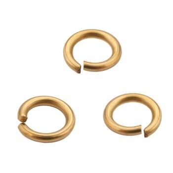 200pcs Raw Brass Gold Tone Open Jump Rings & Split Ring For Earrings Connectors Bracelet Making DIY Jewelry Findings Accessories
