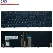 Novo original eua inglês teclado retroiluminado para lenovo y580 y580a y580n portátil 25203062 25203122 25203434 25205471