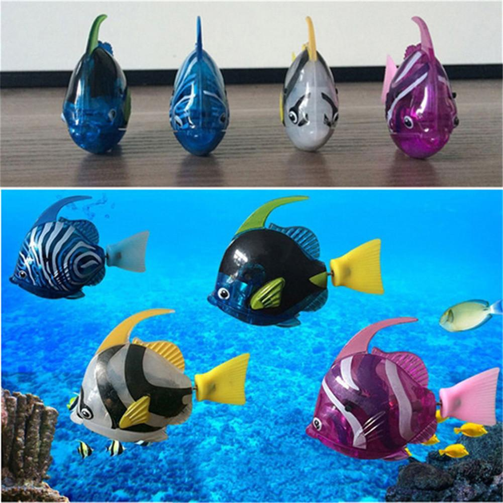 1pc Electric Fish Water Toys Flashing Induction Fish Water Activated Toys Random Delivery With Built-in Battery