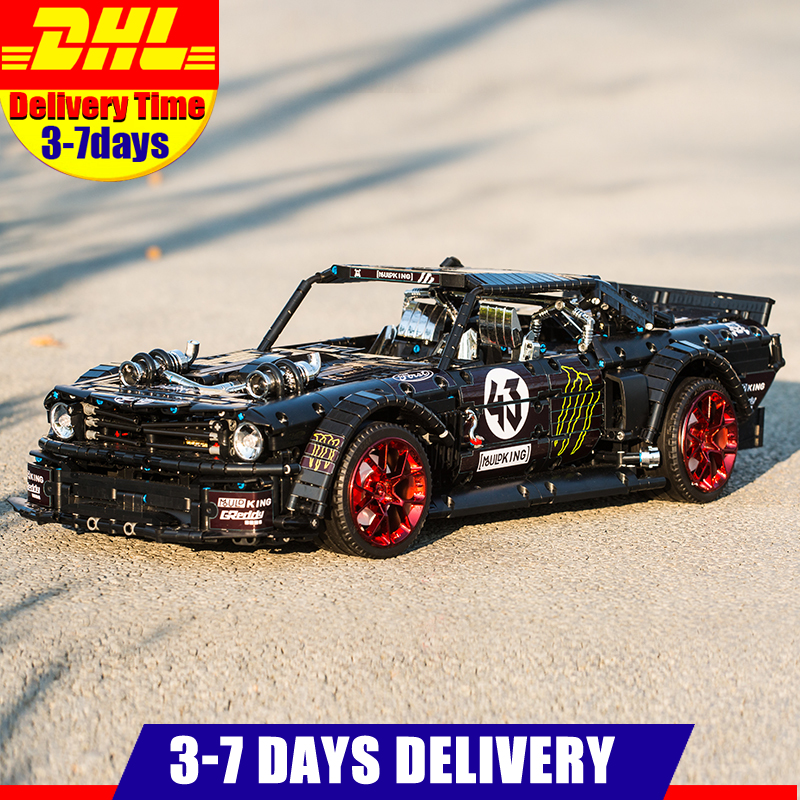 2020 IN Stock 13108 RC Technic Car Ford Mustang Hoonicorn with Motor 20102 <font><b>MOC</b></font> <font><b>22970</b></font> Building Block Bricks Educational Toys Gift image