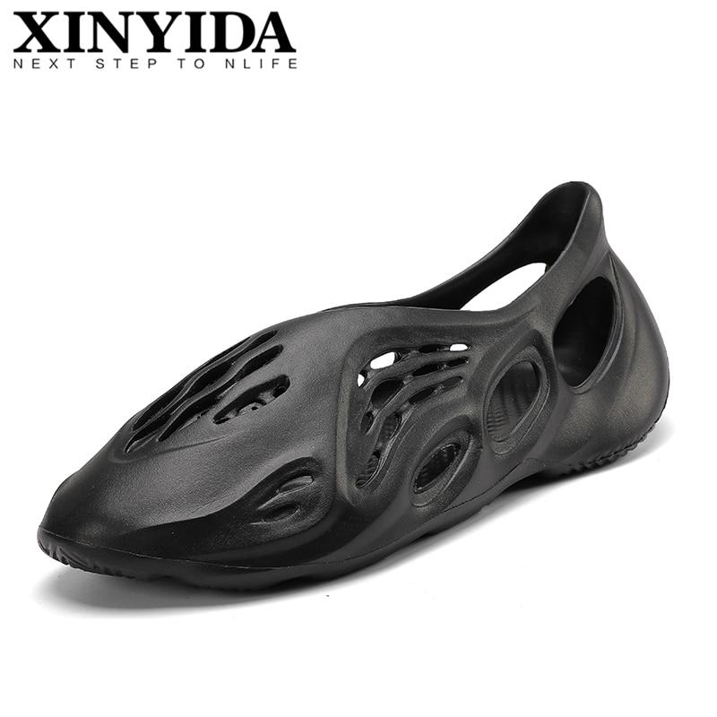 New Arrival Cool Summer Sandals Men's Hole Shoes Slip On Breathable Clogs Fashion Croc Beach Shoes Foam Runner Plus Size 36-46
