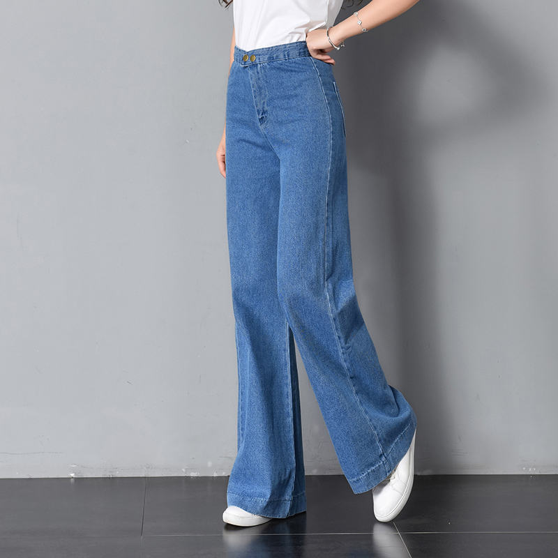 Women's Jeans 2019 Spring Loose High Waist Jeans Female Thin New Style Full Length Harem Pants Large Size K11