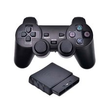 Draadloze Gamepad Voor Sony PS2 2.4G Trillingen Joystick Blutooth Controller Voor Playstation 2 Joypad Draadloze Vibrator USB Game(China)