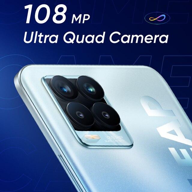 Russian Version realme 8 Pro 108MP Camera Snapdragon 720G Smartphone 6.4'' Display AMOLED 50W Super Dart Charge 4500mAh Battery 4