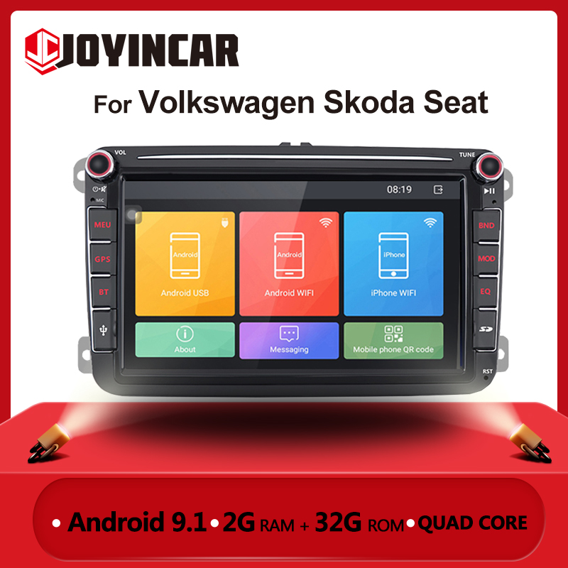 2 din Car Radio Android for VW Volkswagen Skoda Seat Octavia golf 5 6 Touran Passat B6 Polo Car Stereo Multimedia Player GPS BT image
