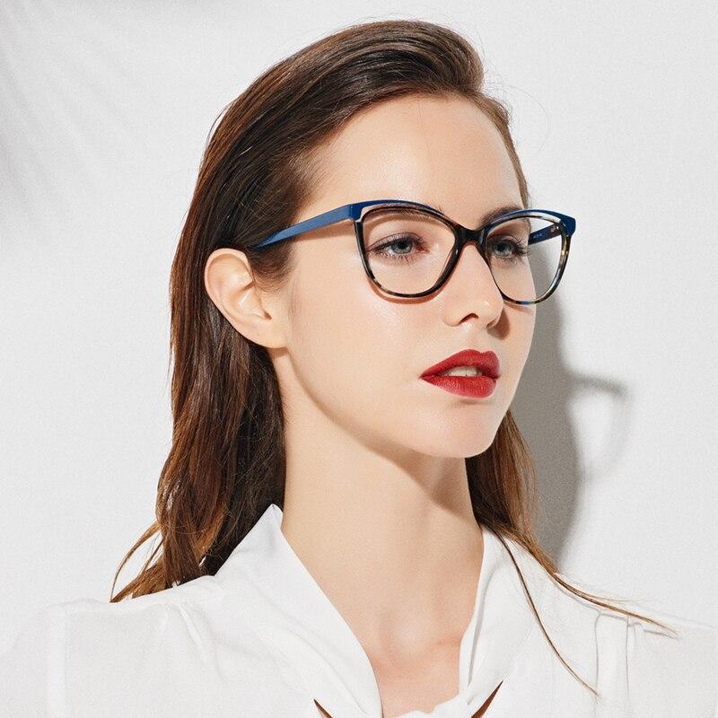 SASAMIA Eyeglass Frames Women Acetate Eyewear Decorative Glasses Vintage Eye Glasses Frame Oversize Glasses Women Optical