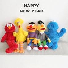 5 style Big Size Sesame Street Plush Doll Toys Elmo Ernie Bert Figures Soft Birthday Gift Free Shipping