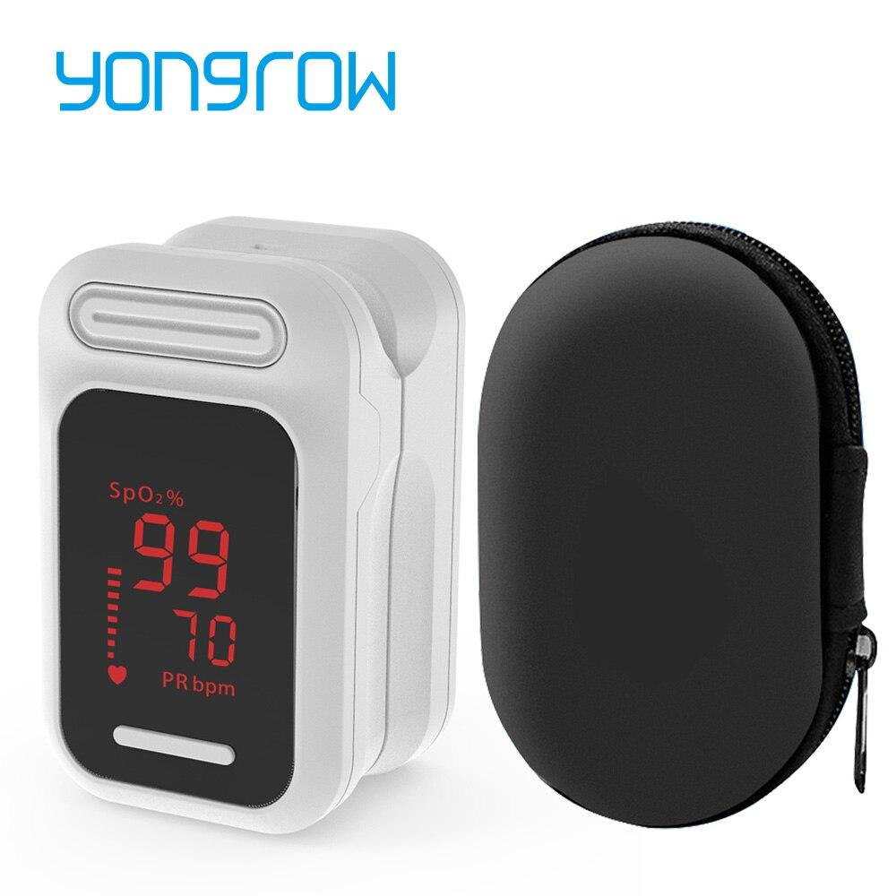 Yongrow Medical FDA Fingertip Pulse Oximeter  PR Oxygen Saturation Memter SPO2 PI Oximetro De Dedo Pulsioximetro Oxymeter
