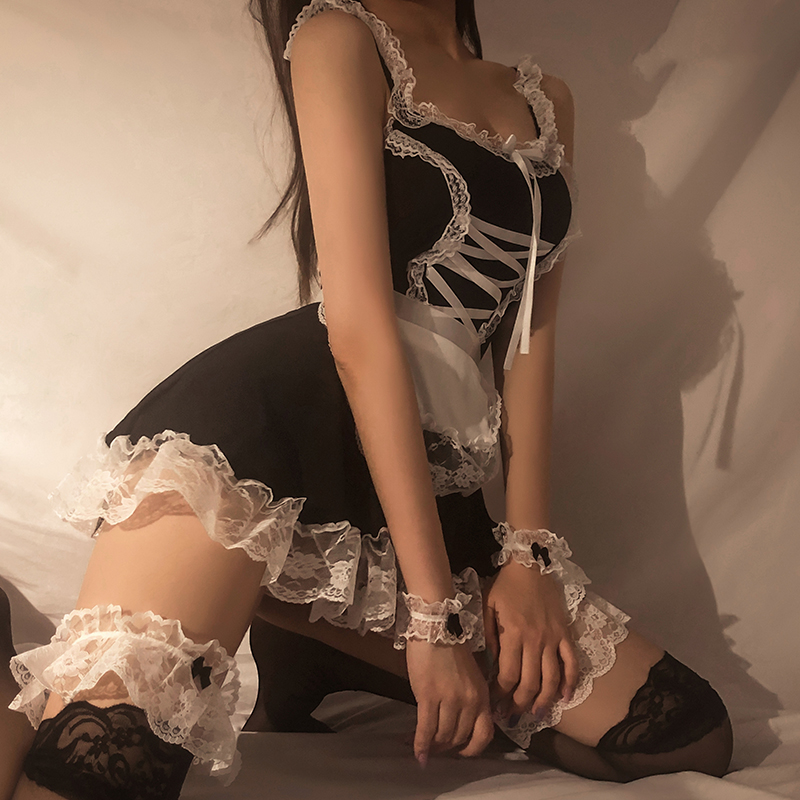 Lingerie Cosplay Uniform Costumes Dress Babydoll Maid Servant Lolita Erotic Women Sexy