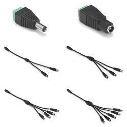 5,5x2,1 мм постоянного тока от 1 до 2 3 4 5 6 8 способ силовой сплиттер кабель от 1 до 2 гнездовой разъем провод для светодиодной ленты свет CCTV камера