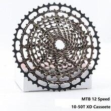 خفيفة متب 12 سرعة 10 50T XD ولت كاسيت في نهاية المطاف نك دراجة هوائية جبلية حرة عجلة الصلب دائم 12 s k7 ضرس 390g