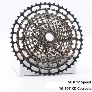 Image 1 - خفيفة متب 12 سرعة 10 50T XD ولت كاسيت في نهاية المطاف نك دراجة هوائية جبلية حرة عجلة الصلب دائم 12 s k7 ضرس 390g